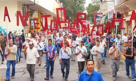 Descomunal marcha ANTORCHISTAS desquicia a Xalapa al medio día.