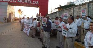 PROTESTA TRABAJADORES DE PEMEX