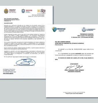 """En su cuenta de Twitter @FYunesMarquez dice…..El día de hoy recibí un oficio por parte del secretario de gobierno, en donde nos """"recomienda"""" echar atrás las medidas que hemos implementado ante el COVID 19. Esta es mi respuesta."""