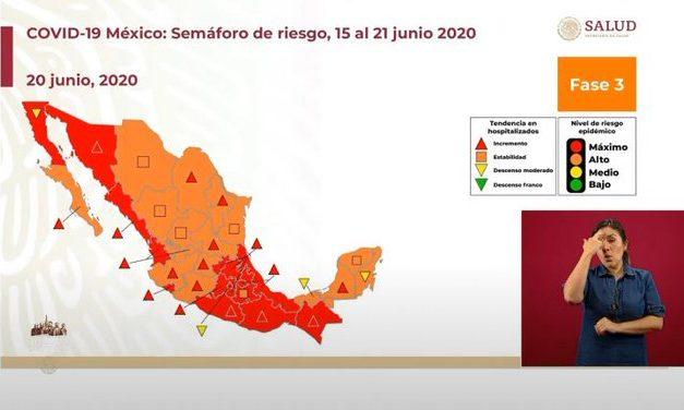 Puebla dentro de los estados con mayor número de muertes por coronavirus