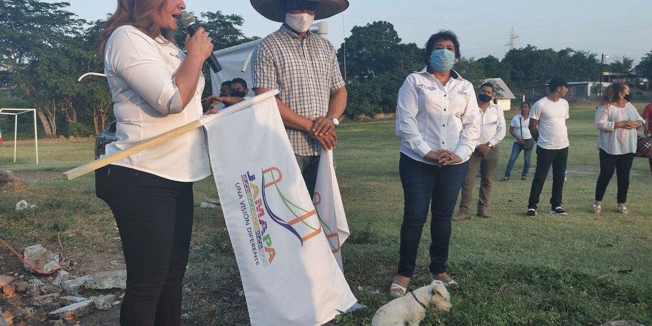 El Piñonal contará con «Salón de Usos Múltiples», anuncia Alcaldesa de Jamapa, Florisel Ríos Delfín