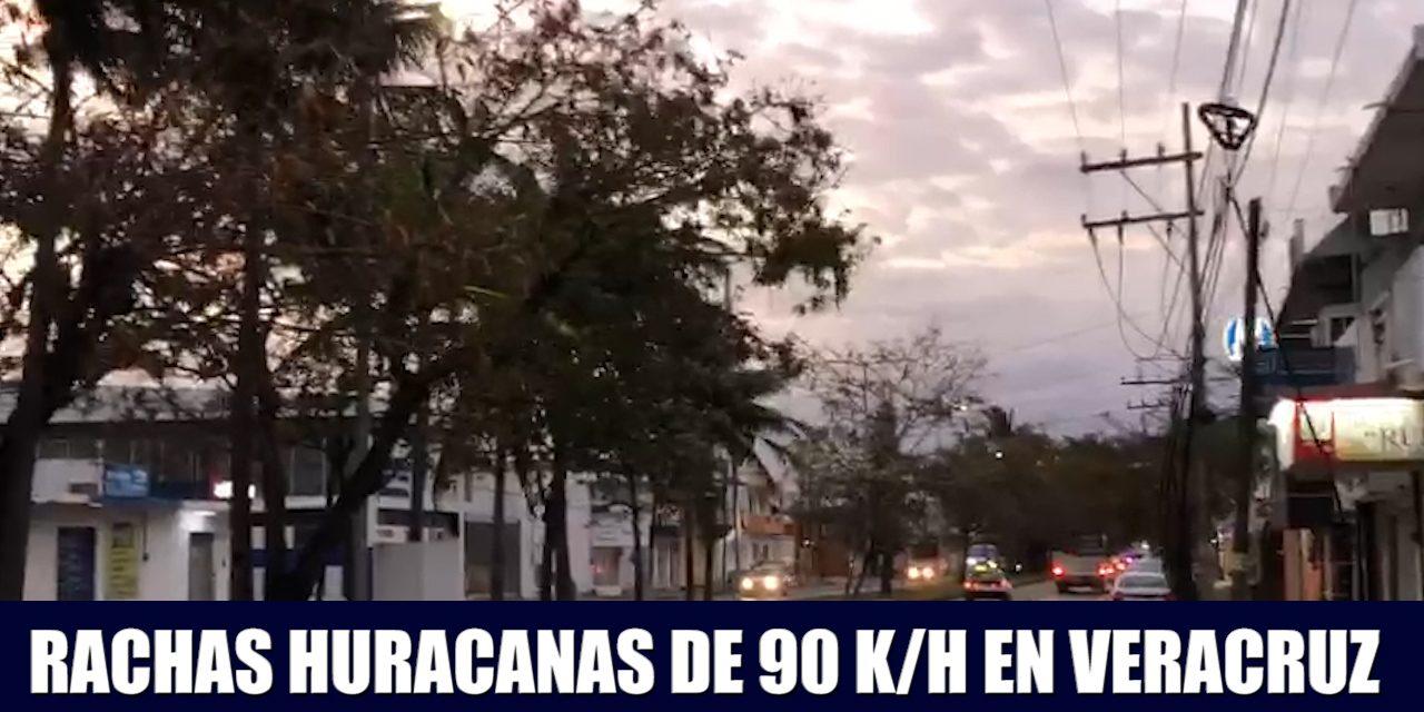 RACHAS HURACANADAS DE 90 KILOMENTROS POR HORA