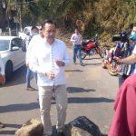 HABITANTES DE LA ZONA DE NARANJAL BLOQUEAN EL PASO A GOBERNADOR CUITLAHUAC GARCIA